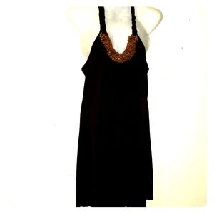 A. Byer Halter open back dress